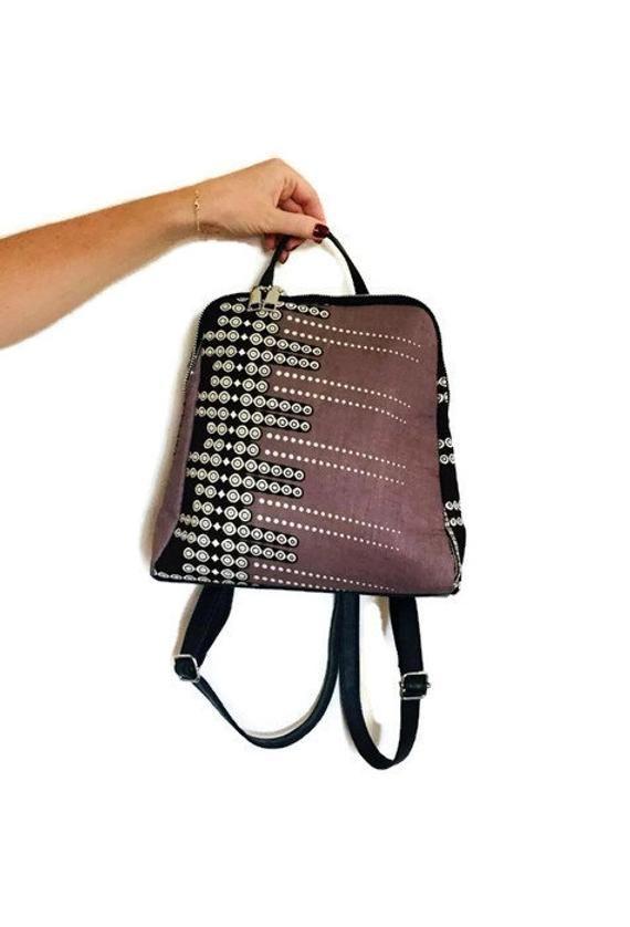 e341ac9544d Wax backpack wax print african print ankara print ethnic geometric ...