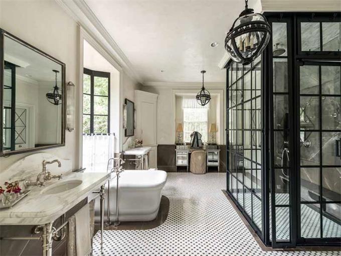 modern meets rustic spa like master bathroom athens georgia atlanta fine homes