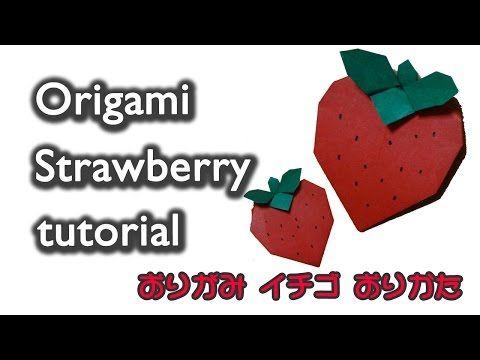 Origami Strawberry / 折り紙 いちご 折り方 - YouTube