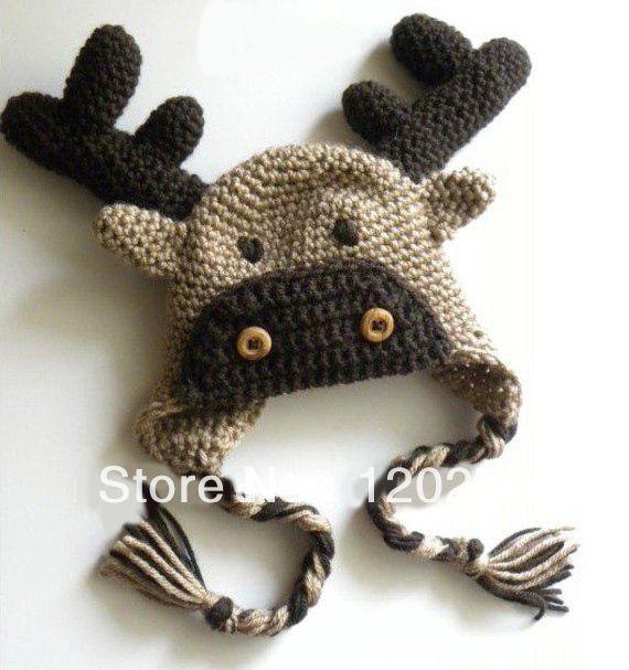 Вязание крючком для новорожденных малышей оленей OWL Обезьяна Frog Футбол Beanies Девочки Мальчики трикотажных животный шлем Детский ушанки Хлопок