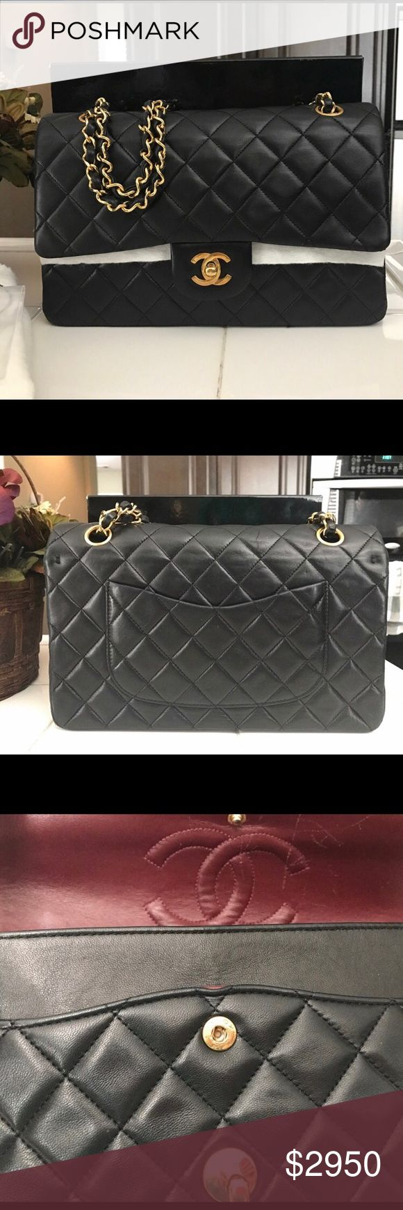 Authentic Classic Chanel medium flap bag 100 percent authentic, smoke free home, great condition, comes with box, dust bag, & authenticity card! CHANEL Bags