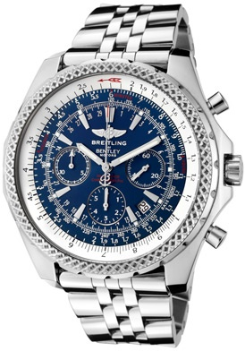 Breitling For Bentley Automatic / Mechanical Chrono Blue Dial Stainless Steel