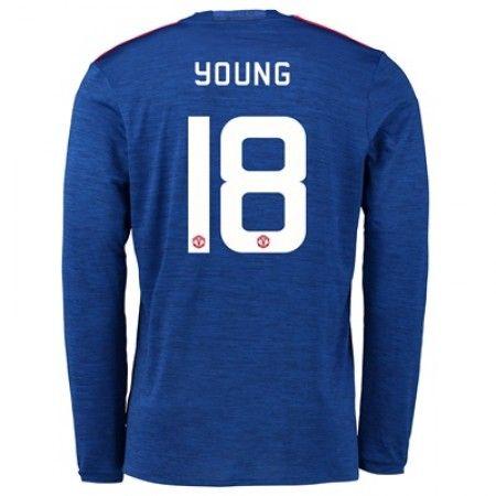 Manchester United 16-17 Ashley Young 18 Borte Drakt Langermet.  http://www.fotballpanett.com/manchester-united-16-17-ashley-young-18-borte-drakt-langermet.  #fotballdrakter