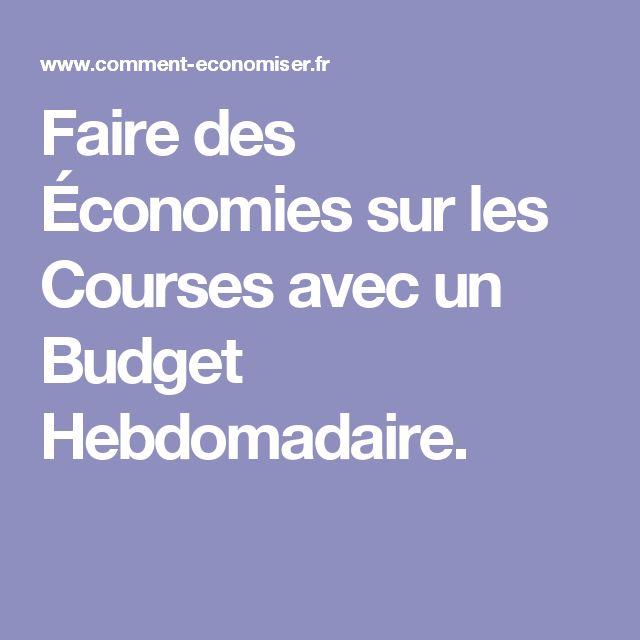 Faire des Économies sur les Courses avec un Budget Hebdomadaire.