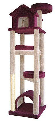 (click twice for updated pricing and more info) Molly and Friends Five Tier Extra Large Cat Tree House - Red #scratching_posts http://www.plainandsimpledeals.com/prod.php?node=42990=Molly_and_Friends_Five_Tier_Extra_Large_Cat_Tree_House_-_SKYSCRAPER-Red