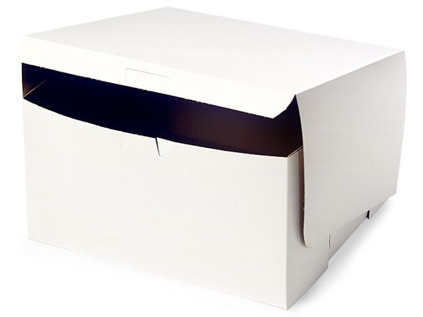 10x10x5 White Bakery Boxes 100 Pk 1 Piece Lock Corner Box Custom Printed Labels Printing Labels Custom Boxes