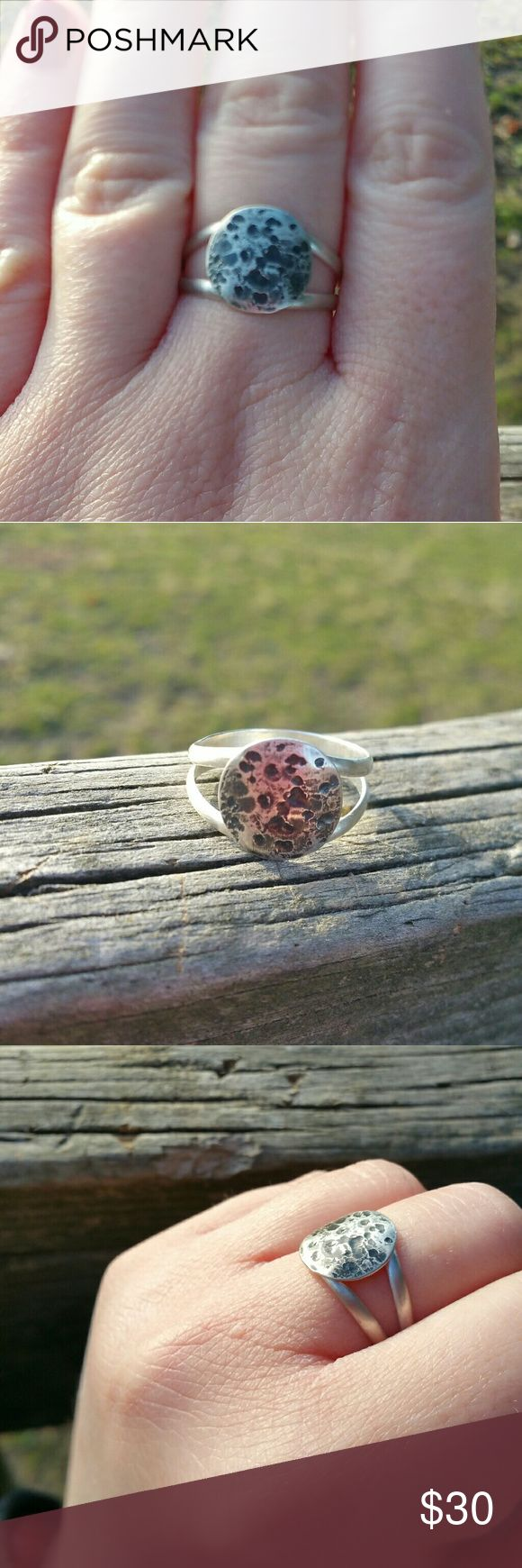 NWOT full moon sterling silver ring size 8.75 Brand new silversmithed sterling silver full moon ring. Size 8.75, fits a little large, should definitely fit a size 9. Comes with original gift box! Handmade Jewelry Rings