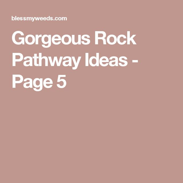 Gorgeous Rock Pathway Ideas - Page 5