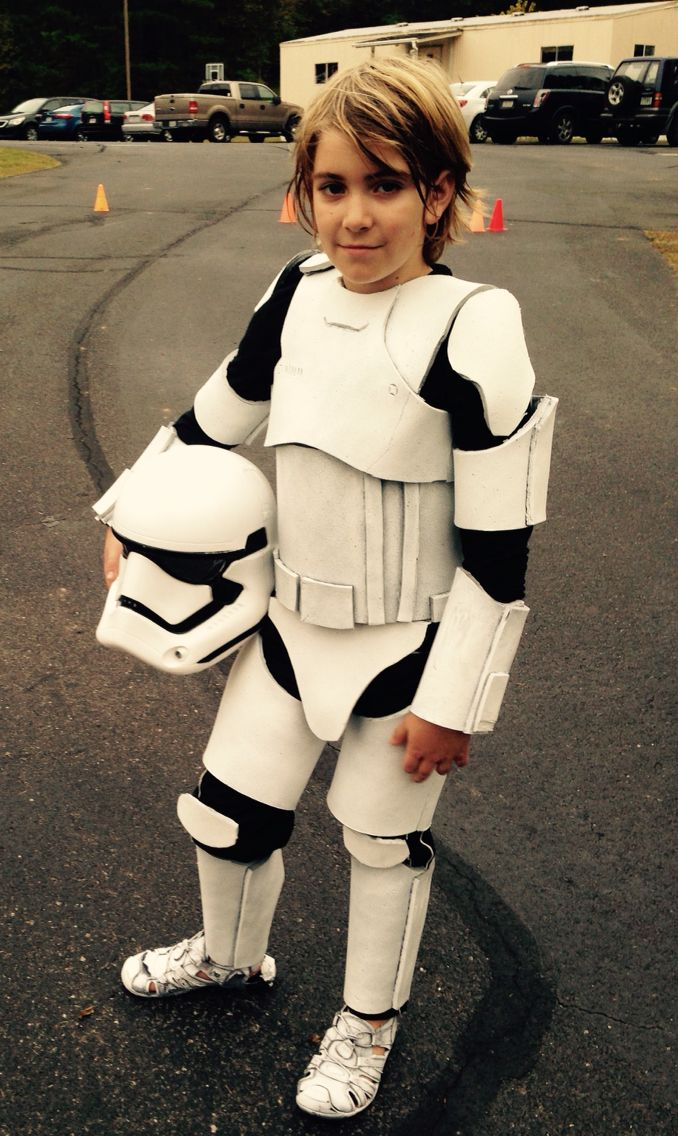 DIY kids first order storm trooper costume Star Wars The Force Awakens