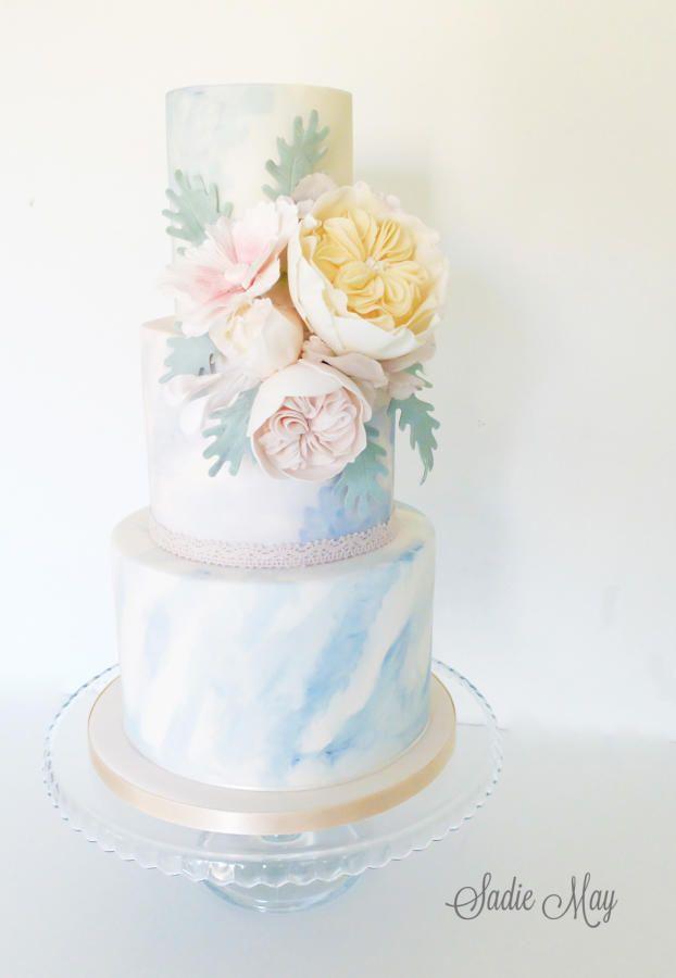 Watercolour cake  by Sharon Sadie May Cakes  - http://cakesdecor.com/cakes/275785-watercolour-cake