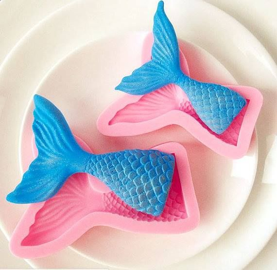 This Mermaid Tail Silicone Mold is perfect for making mermaid soaps! Whether you're making cold process soap or melt and pour soap, this mold creates beautiful mermaid tail soap or guest soaps!