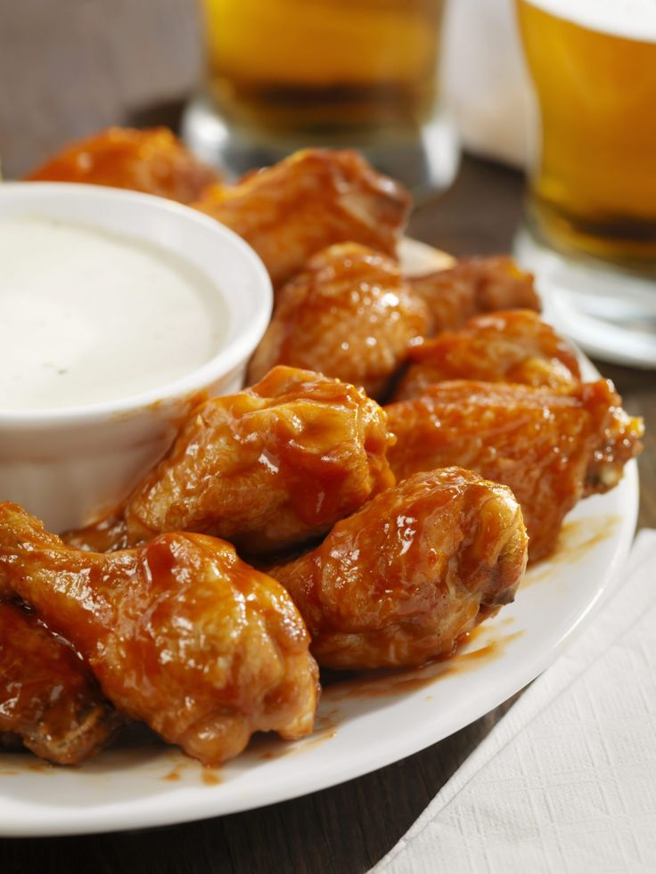 Low Sodium Buffalo Wings & Ranch Dipping Sauce