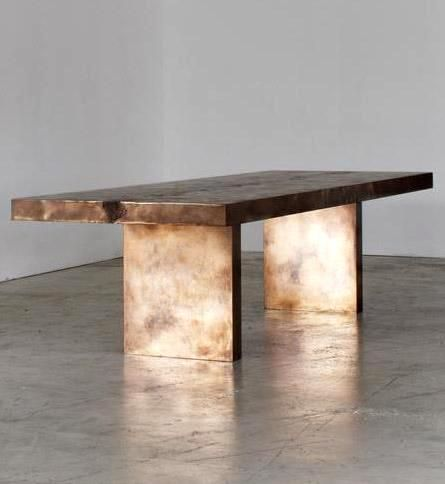 Based Upon   Stingray Backbone Dining Table #metal