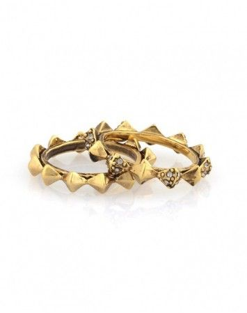House of Harlow Thin Stacked Ring Gold