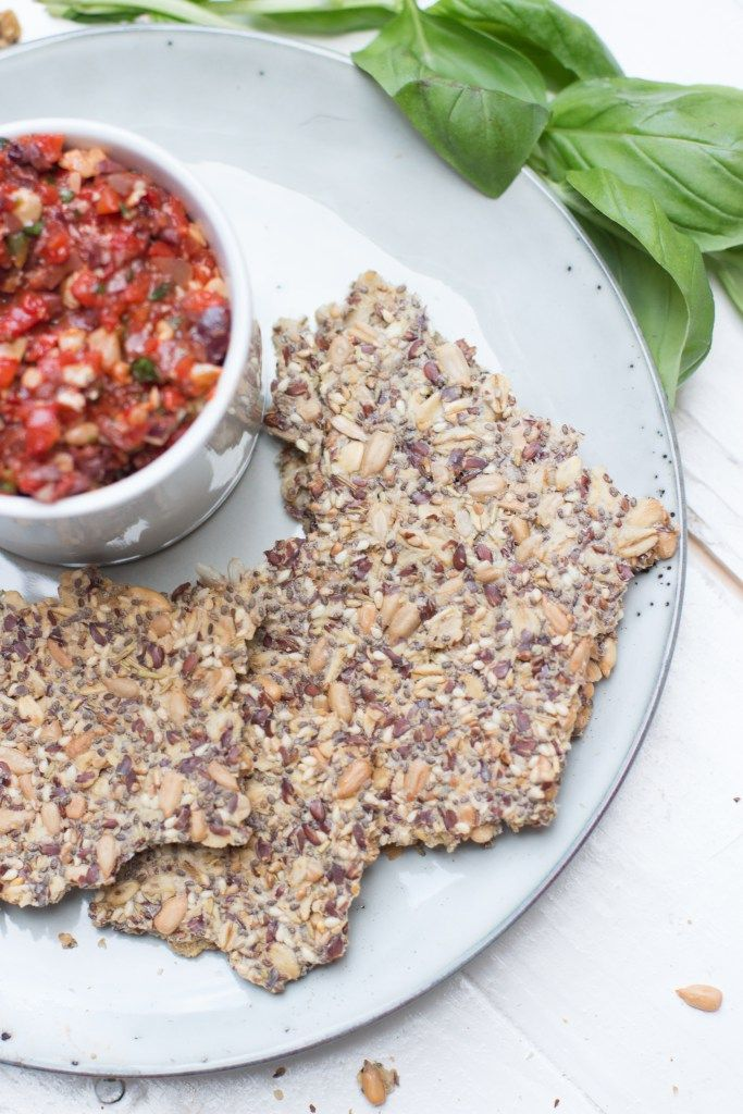 Zelfgemaakte Crackers met Zaden