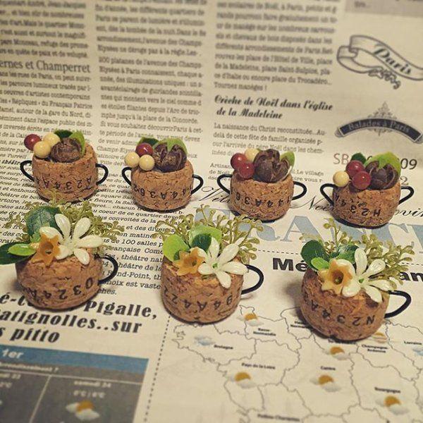 マグカップに花や木の実を | ギャザリー                                                       …