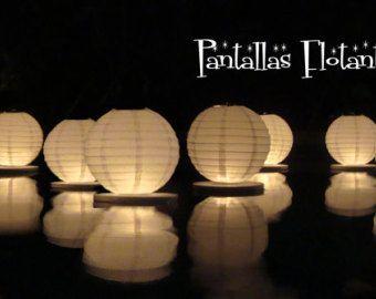 Floating paper lanterns 20 pack by GlobosDeLuz on Etsy