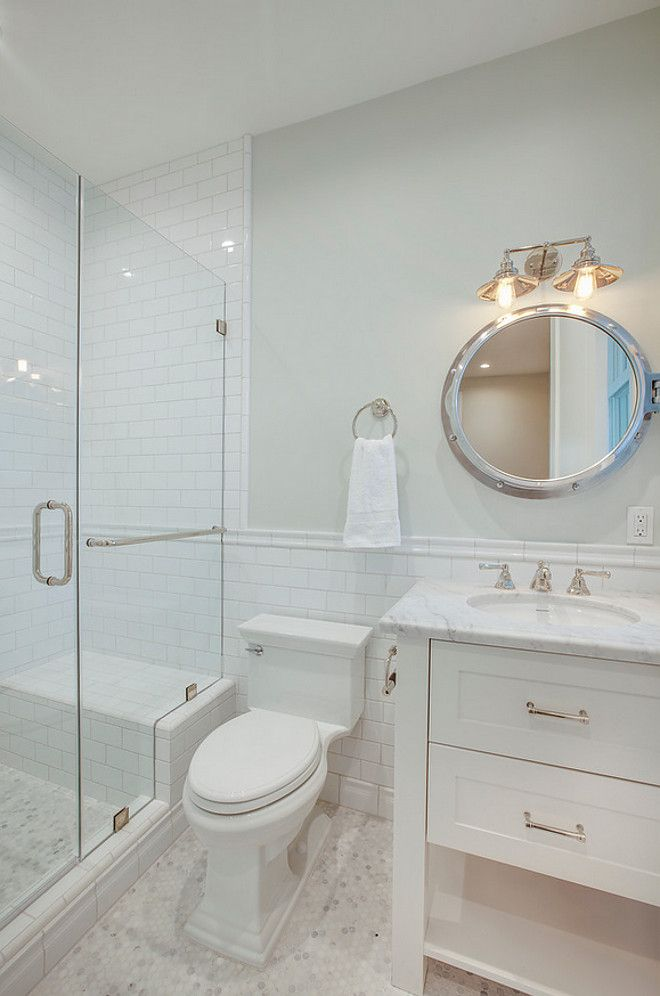 Bathroom Tiling Bathroom Small Hex Floor Tiles With Subway Tile Shower Wall And Subway Tile