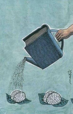 I love reading. It waters the brain.