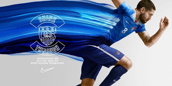 Clint Dempsey with new 2015 USA football team jersey  www.bettingrunner.com