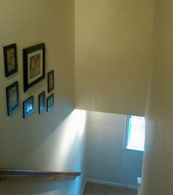"How to paint high ceilings from ""A Mom and Her Drill"" blog.  Use aluminum telescoping extension pole, basic ladder, and Shur-line edger with wheels.  Also hot glue (or possibly tape) brush to edge of extension pole to paint corners."
