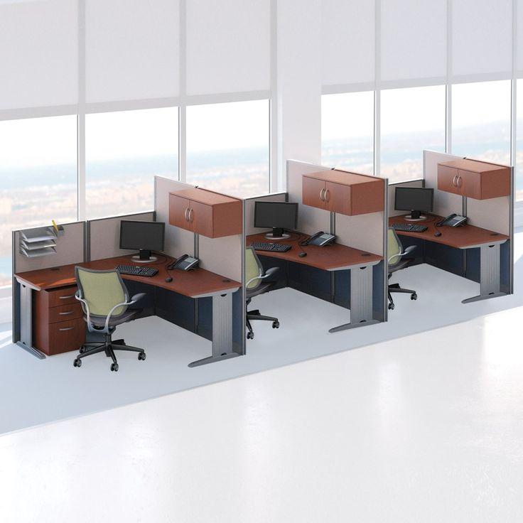 Three Person L Desk Workstation Set Office DesksOffice