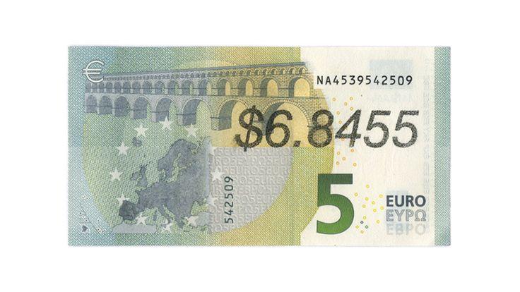 Ben Papyan  $6.8455  2013 money art, graffiti, bill, print, banknote, dollar, euro