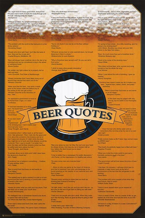 Famous beer quotes we love this! Beer Culture