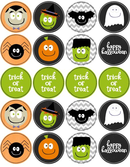free printable halloween tags cute for cupcake toppers - Free Printables For Halloween