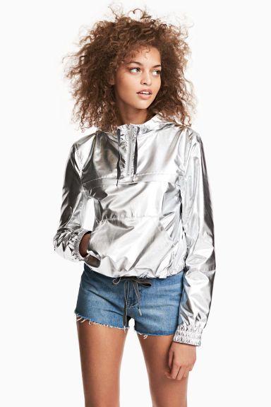 Anorak metalizado brillante - Plateado - MUJER   H&M ES 1