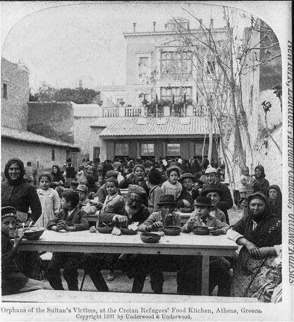 Orphans of the Sultan's Victims, at the Cretan Refugees' Food Kitchen, 1897 - Photographs of Athens in the Late 19th and Early 20th Century  Best of Web Shrine
