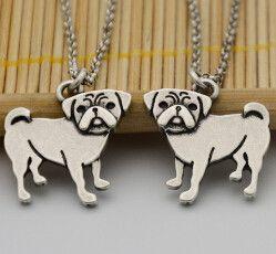 Double Pug Necklace