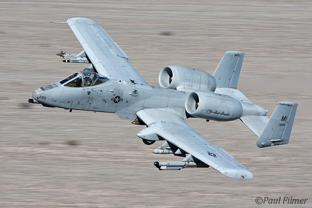 A-10C 78-0689 from the 107th Fighter Squadron, 127th Wing (Michigan Air National Guard), Selfridge ANGB, during Red Flag 11-3 at Nellis AFB, Nevada. Red Devils baby.