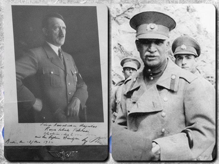 اعلیحضرت همایونی ، رضا شاه پهلوی ، شاهنشاه ایران ، با بهترین آرزوها ٬ برلین، ۱۲ مارچ ۱۹۳۶ - آدولف هیتلر.