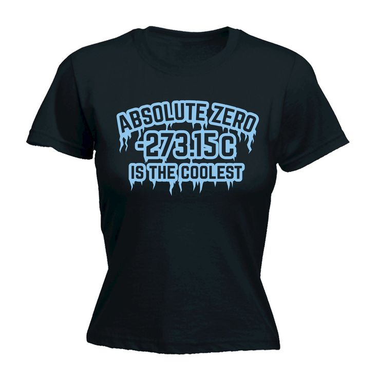 123t USA Women's Absolute Zero Is The Coolest Funny T-Shirt