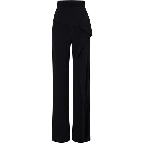Roland Mouret Coveney Trouser found on Polyvore featuring pants, multicolor, tailored, tailored pants, roland mouret, tailored trousers, multi color pants and blue trousers