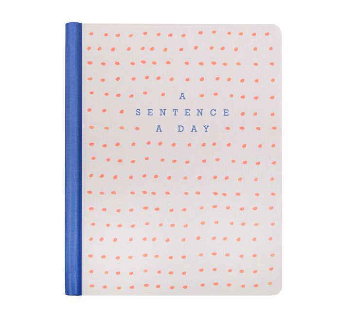 Be inspired to start writing a journal with this Sentence a Day printed journal