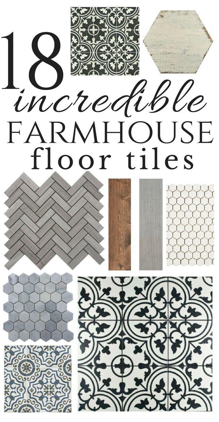 Incredible farmhouse floor tiles for the kitchen, bathroom, or laundry room! #TwelveOnMain #farmhouseflooring #floortiles #tileideas