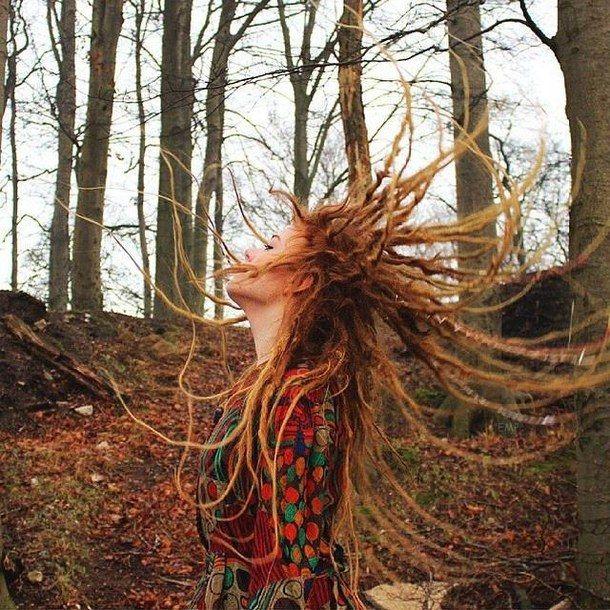 dredy, dredy, les, hippie, mír, zrzka