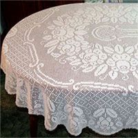 Pattern Crochet Tablecloth Oval 171 Crochet Free Patterns
