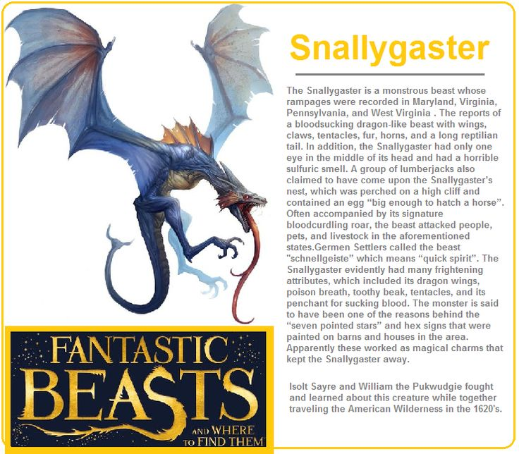 #fantaticbeasts #snallygaster #harrypotter # ...