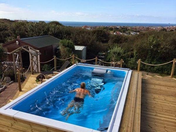 Above Ground Pool Decks Ideas Wooden Pool Decks Pros Cons