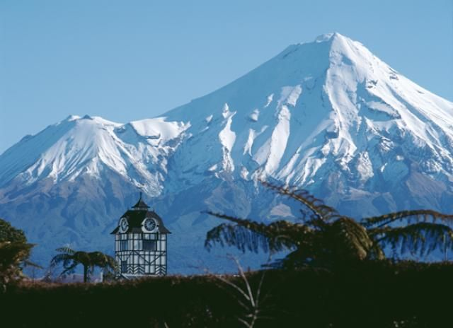 Mt Taranaki from Stratford - this is the town I was born in