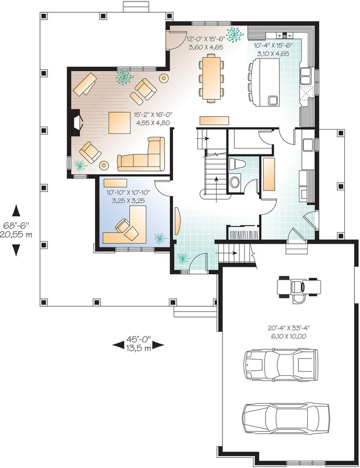 96 best house plans images on pinterest | square feet, country home