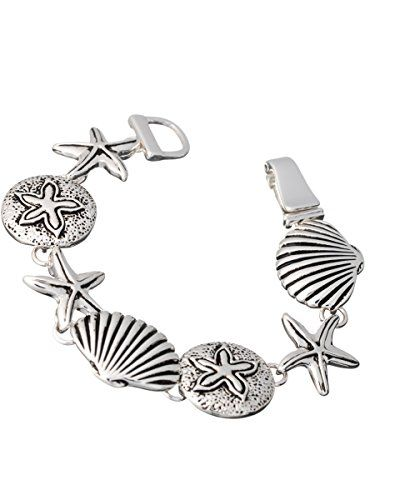Sand Dollar, Starfish, Shell, Shellfish Antique Finish Sealife Theme Magnetic Bracelet Jewelry Nexus http://www.amazon.com/dp/B00DOBUWUU/ref=cm_sw_r_pi_dp_FJ67wb16PKSAX