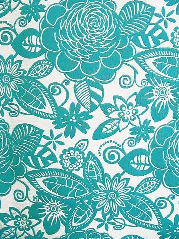 Pelmet Fabric: CASCADE TURQUOISE