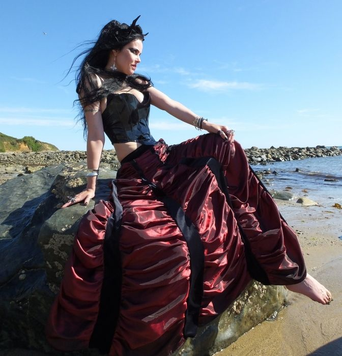 Moonshadow Mausoleum Skirt by Moonmaiden Gothic Clothing UK