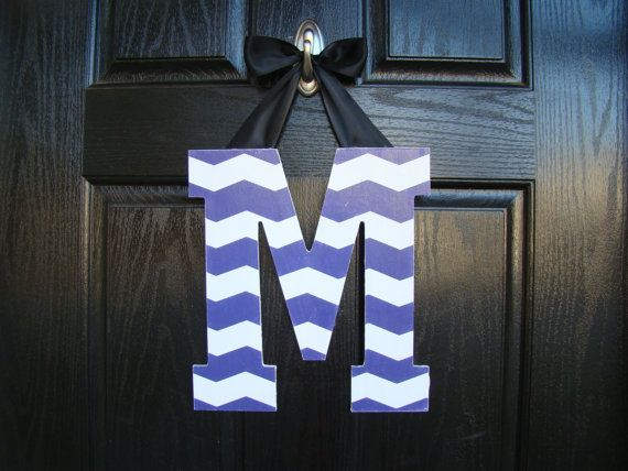 Chevron Painted Letter Customized to any decor by WeatheredDesigns, $15.00