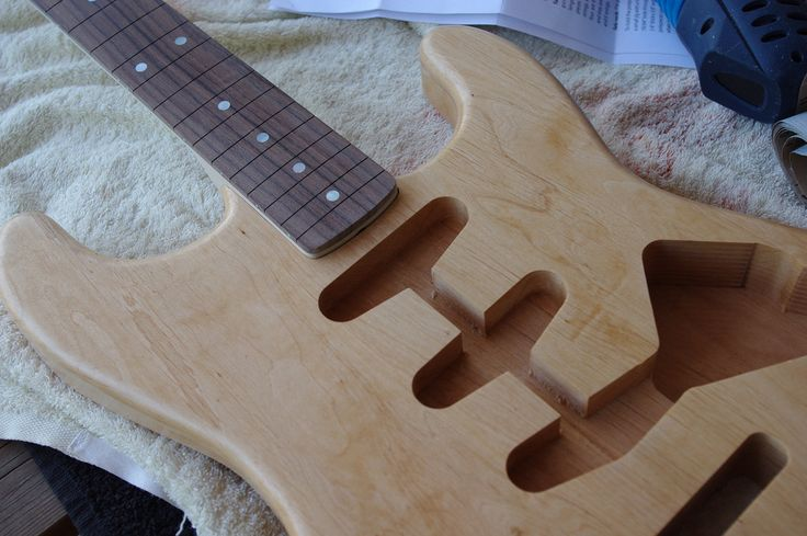 Woodwork for this guitar with CNC technology