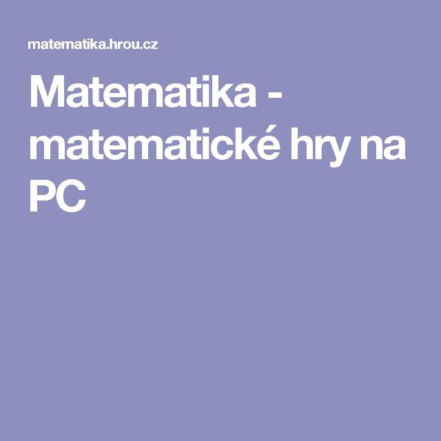 Matematika - matematické hry na PC
